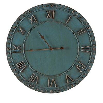 Besp-Oak Furniture 72cm Iron Roman Numerals Clock