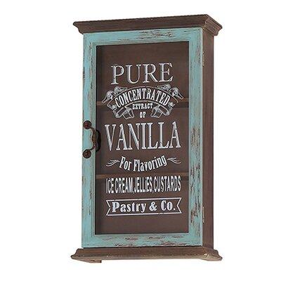 Besp-Oak Furniture Glass Fronted Pure Vanilla Cupboard with 1 Door