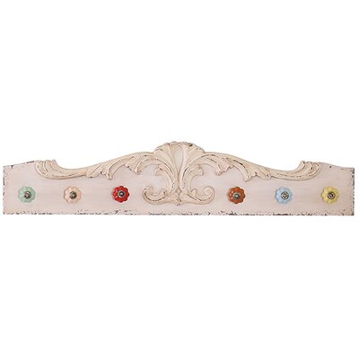 Besp-Oak Furniture Classic Wooden Plaque Wall Mounted Coat Rack