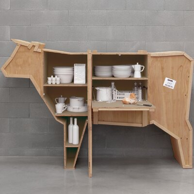 Sending Animals Cow Accent Cabinet