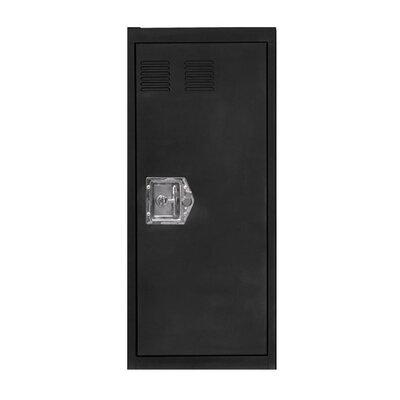 Stack 1 Door Storage Cabinet Color: Black