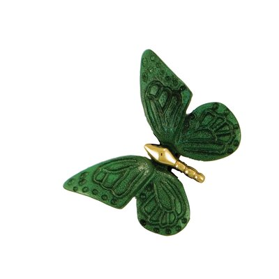 Monarch Butterfly Doorbell Ringer Finish: Brass/Green Patina
