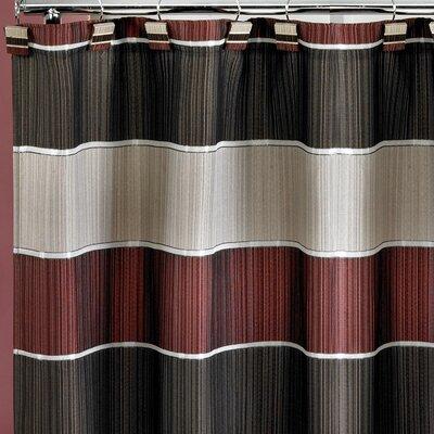 Jayceson Shower Curtain Color: Burgundy