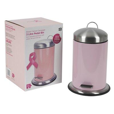 Breast Cancer Campaign Breast Cancer Campaign 3L Pedal Bin