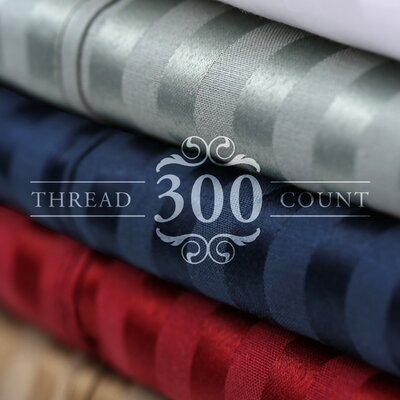 300 Thread Count Cotton Blend Sheet Set Color: Wine, Size: Split King