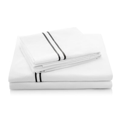 200 Thread Count Percale Bed Sheet Set Color: Black, Size: Twin XL