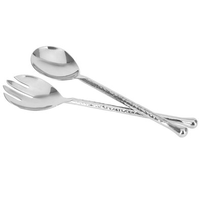 Come Dine With Me 2 Piece Stainless Steel Salad Serving Set