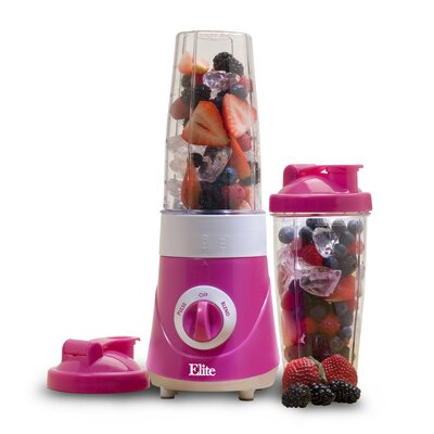 Cuisine Personal Drink Mixer with 28oz. Travel Cups Color: Pink