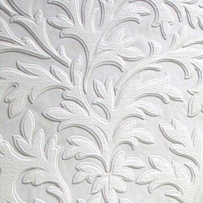 Anaglypta High Leaf 10.05m L x 53cm W Roll Wallpaper