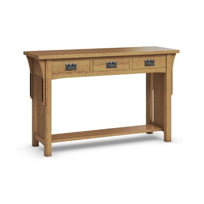 FLW Sofa Table With Three Drawers Color: Golden Oak