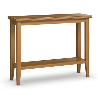 "Bowery Sofa Table with Shelf Color: Praline, Size: 30"" H x 38"" W x 12"" D"