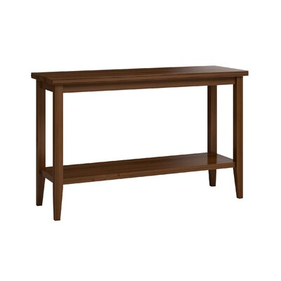 "Bowery Sofa Table with Shelf Size: 30"" H x 48"" W x 16"" D, Color: Burnt Sugar"