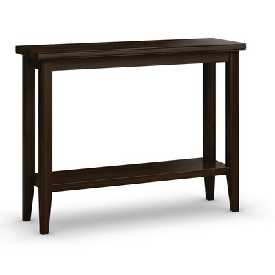 "Bowery Sofa Table with Shelf Color: Coffee, Size: 30"" H x 38"" W x 12"" D"