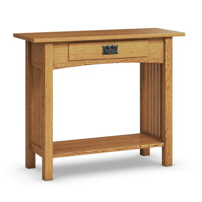 Mission Hills Sofa Table With Drawer Color: Golden Oak