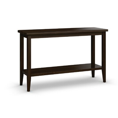 "Bowery Sofa Table with Shelf Size: 30"" H x 48"" W x 16"" D, Color: Coffee"