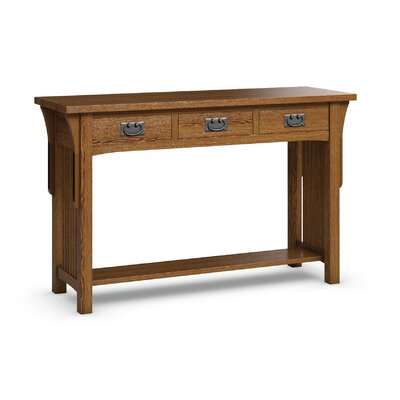 FLW Sofa Table With Three Drawers Color: Mission