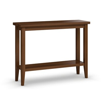 "Downtown Sofa Table with Shelf Size: 30"" H x 48"" W x 16"" D, Color: Burnt Sugar"