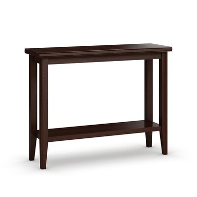 "Downtown Sofa Table with Shelf Size: 30"" H x 48"" W x 16"" D, Color: Brandywine"