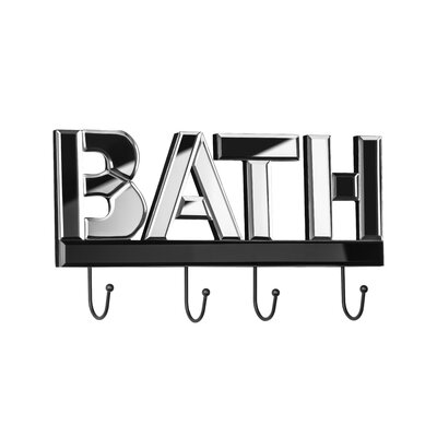 All Home Bath Mirrored Wall Mounted Coat Rack