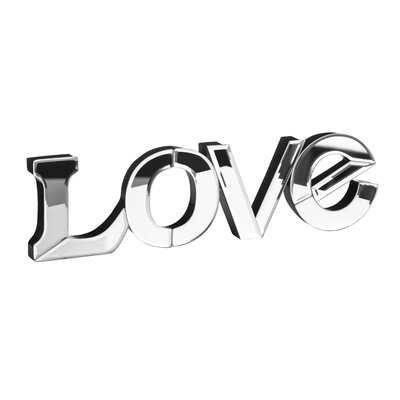 All Home Love Mirrored Letter Block