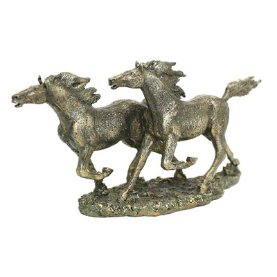 All Home Double Horse Figurine