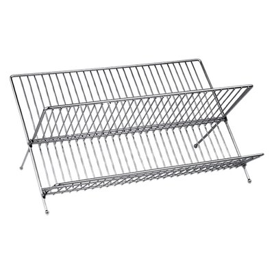 All Home Folding Dish Rack in Chrome
