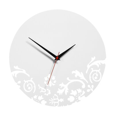 All Home 30cm Floral Wall Clock