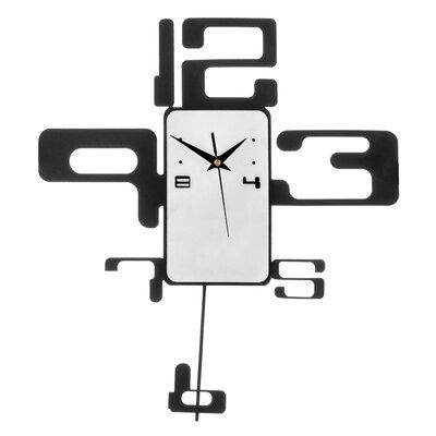 All Home Retro Numbers Pendulum Wall Clock