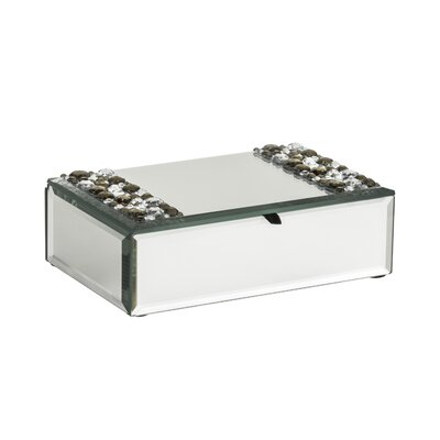 All Home Mirrored Glass Jewellery Box