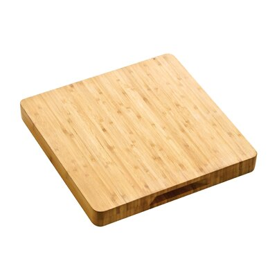 All Home 33 cm Butchers Block Chopping Board with Handles