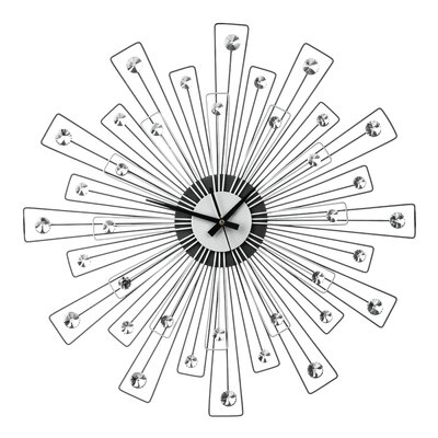 All Home Oversized 59cm Spoke with Crystals Wall Clock
