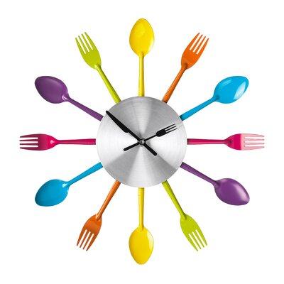 All Home 37cm Cutlery Wall Clock