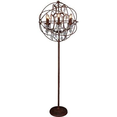 All Home Twig Sphere Industrial 170cm Floor Lamp