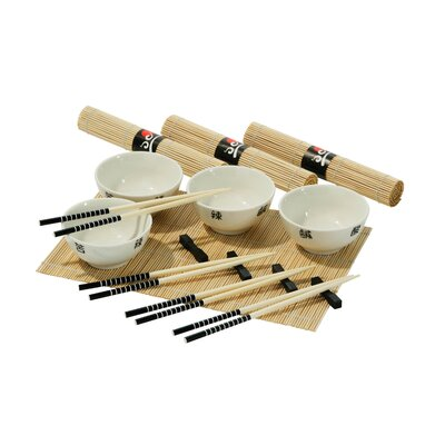 All Home Chinese 16 Piece Porcelain Dinnerware Set