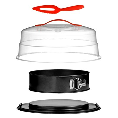 All Home 4 Piece Non-Stick Spring Form Cake Tin and Carrier Set