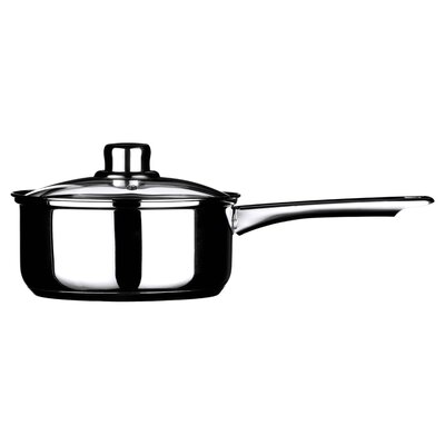 All Home 39 cm Mirror Stainless Steel Sauce Pan with Lid