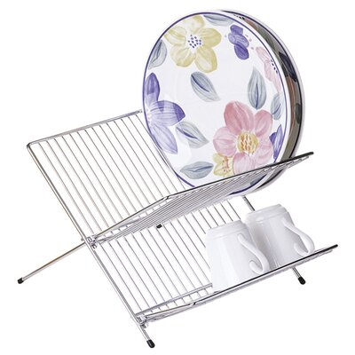 All Home Folding Dish Drainer in Chrome