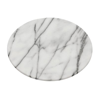 All Home Lazy Susan in White Marble