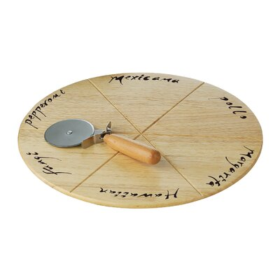 All Home 32 cm Board with Pizza Cutter
