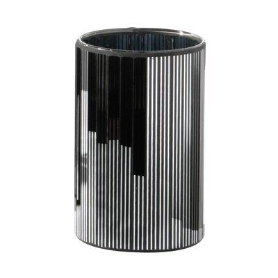 All Home Mirrored Stripe Small Vase