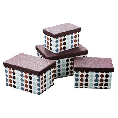 All Home Dots Storage 4 Piece Box Set
