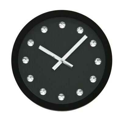 All Home 31cm Jewelled Diamante Wall Clock