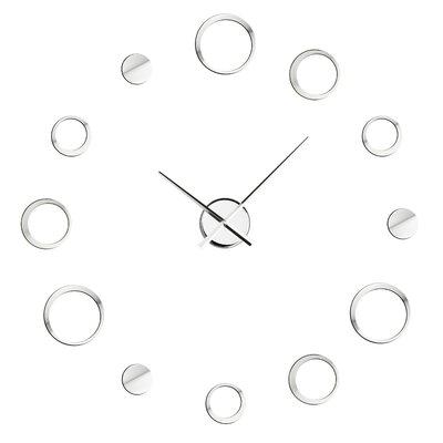 All Home Circle Chrome Effect Wall Clock