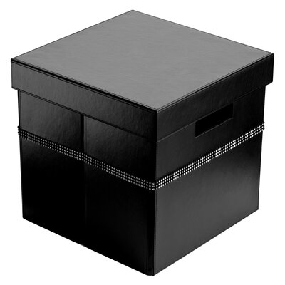 All Home Leather Storage Box with Lid