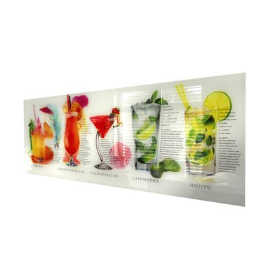 Genius Glasbild Cocktails Grafikdruck