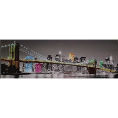 Genius Glasbild NY Brücke Skyline - 33 x 95 cm