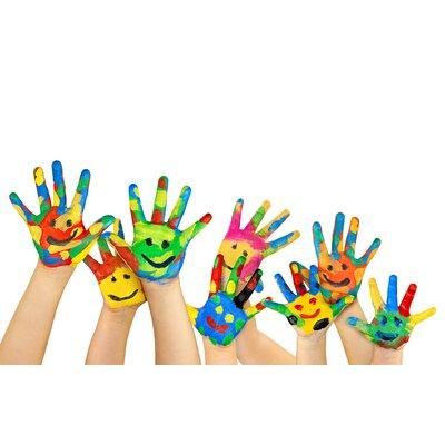 Genius Glasbild Kinderhände
