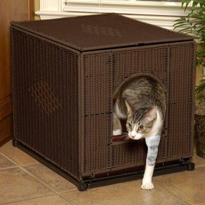 "Litter Box Enclosure Color: Dark Brown, Size: Large (16"" H x 20"" W x 18.5"" D)"