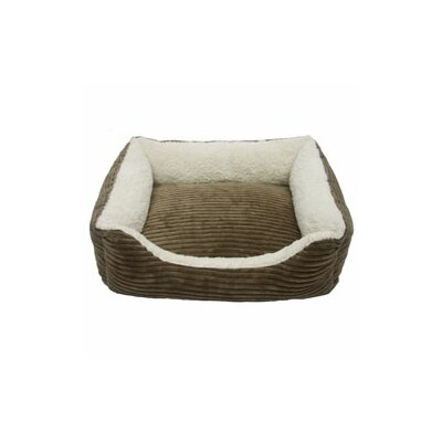 "Carlene Luxury Lounge Pet Bed Color: Dark Moss, Size: Large - 32"" L x 26"" W"