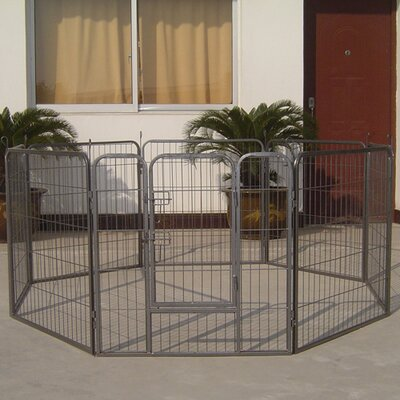 Large Heavy Duty Metal Tube Exercise & Training Dog Pen  Doubles as Kennel